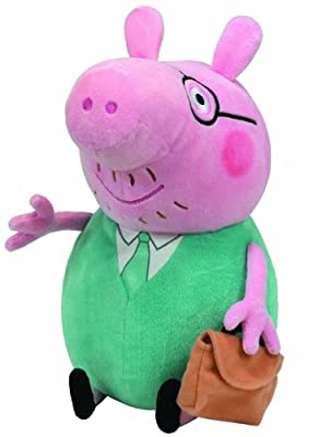 Ty Beanie Baby Peppa Pig - Daddy Ty Beanie Buddy Large Plush Toy