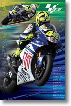 MOTOGP POSTER Valentino Rossi - Motorcycle Racing NEW