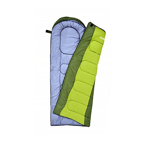 AmiCool Warm Weather Sleeping Bag - Outdoor Camping, Backpacking & Hiking - Fit for Kids, Teens and Adults - Lightweight, Waterproof & Compact