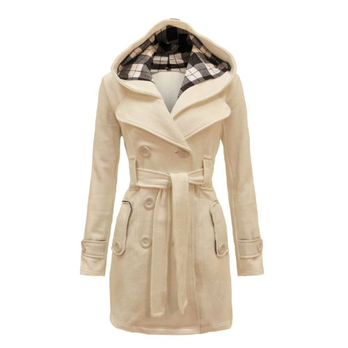 Envy Boutique Women's Military Button Hooded