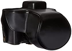 MegaGear 'Ever Ready' Protective Fitted Leather Camera Case , Bag for For Olympus OM-D E-M1 with Lens (Black)