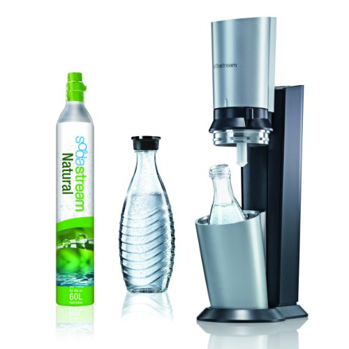 SodaStream Wassersprudler Crystal  (mit 1 x CO2-Zylinder 60L und 2 x 0,6L Glaskaraffen)