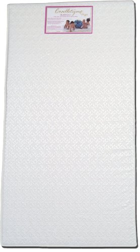 Colgate Classica I - Lightweight Foam Crib Mattress with Waterproof Cover, White