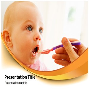 Baby Feeding Powerpoint Templates - Baby Feeding Background Templates - Baby Feeding Slides for Templates
