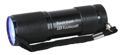 Black Light 9-LED Ultraviolet Flashlight - Batteries Included