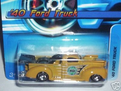 Mattel Hot Wheels 2006 1:64 Scale Yellow 1940 Ford Truck Die Cast Car #142