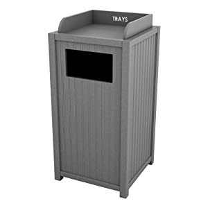 Amazon.com - Standard Panel Outdoor Trash Can and Tray