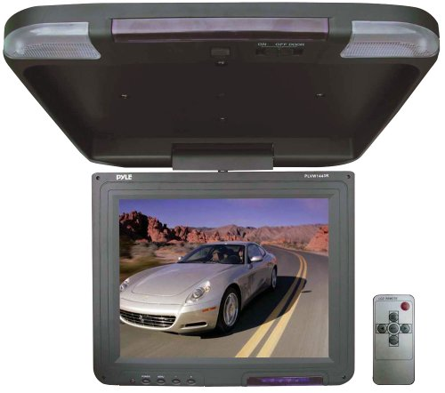 Pyle Plvw1443R 13.4-Inch Flipdown Roof Mount Tft Lcd Monitor And Ir Transmitter