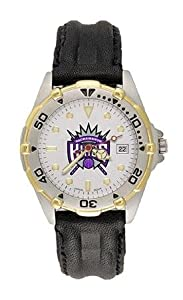 Sacramento Kings Mens NBA All-Star Watch (Leather Band) by NBA Officially Licensed
