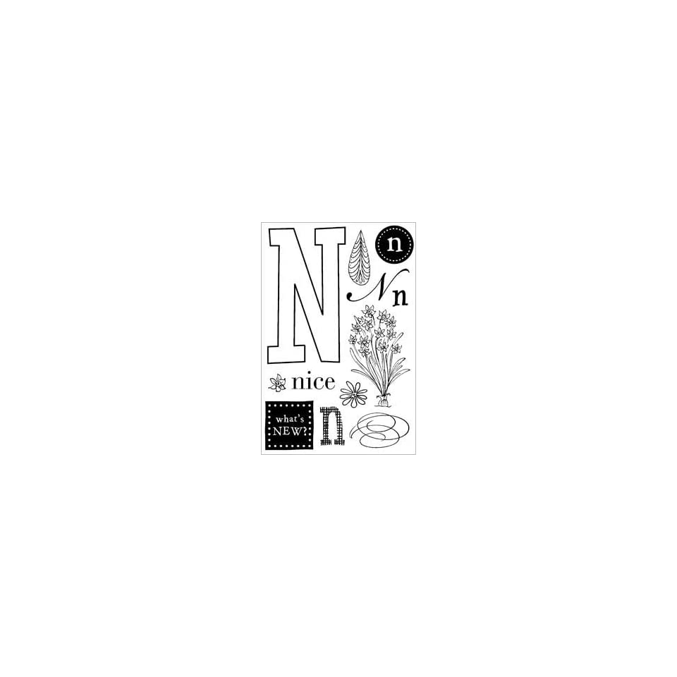 Letter N Theme Clear Rubber Stamp Set   CL014
