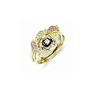 gold tri color black hills gold 05ct diamond antiqued bridal set