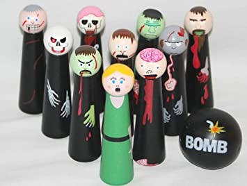 Zombies Wooden Bowling Game