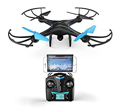 U45 Blue Jay WiFi FPV Quadcopter Drone w/ HD Camera, Altitude Hold, and Live Video Plus Remote Control   For Aerial Photography, Easy to Fly for Expert Pilots & Beginners   Great Gift Idea by Force1RC