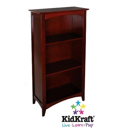 KidKraft Avalon Kids Tall Wooden Bookshelf Cherry