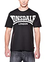Lonsdale Camiseta Manga Corta York (Negro)
