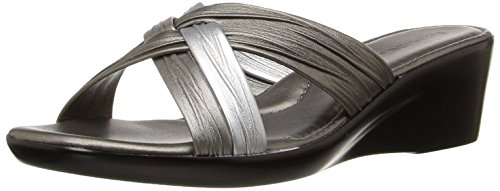 Italian Shoemakers Women's 162w Wedge Sandal, Pewter Multi, 7 W US (Italian Shoes For Women Wedge compare prices)