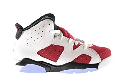 Buy Air Jordan Retro 6 BP Little Kids Shoes White Carmine-Black 384666-160 by Jordan