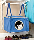 Blue Cat Hanging Closet Sleeper Bed