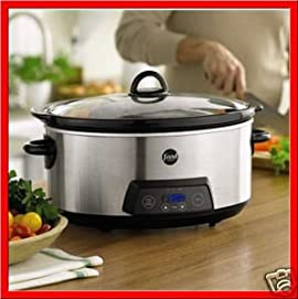 Food Network 6 1/2- Qt Programmable Slow Cooker