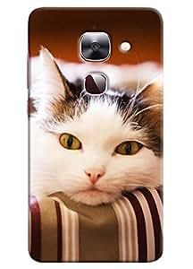 Omnam Cat Feeling Sad Printed Designer Back Cover Case For LeTv Le2