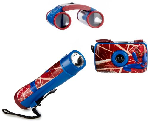 Marvel Spiderman 3-Piece Adventure Set With Camera, Binoculars And Flashlight