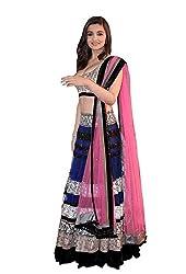 TexStile Womens Fabric Gergette lehenga choli ( 139_blue_Freesize )...