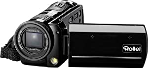 Rollei Movieline SD 80 Camcorder (5 Megapixel Kamera, 7,62 cm (3,0 Zoll) TFT-Display, Full HD, 8-fach optischer Zoom, USB 2.0) schwarz