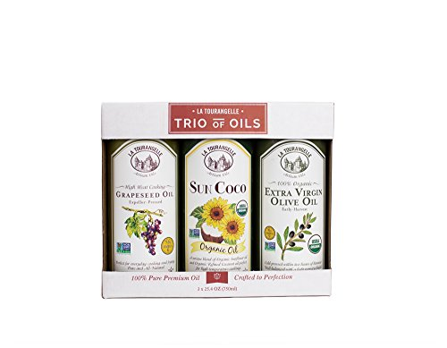 La Tourangelle High Heat Cooking Trio - Perfect Gift Set for Home Chef's - All-natural, Non-GMO, Kosher - 76.2 Fl. Oz. (Organic Grapeseed Oil For Cooking compare prices)