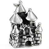 OHM Sterling Silver Princess Fairytale Castle Bead European Charm