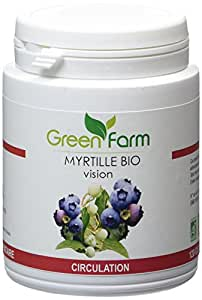 Green Farm - Myrtille Bio - Vision - Circulation - 120 Gélules