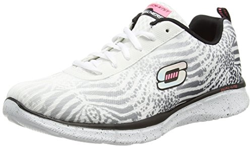 SkechersEqualizer Surf Safari - Sneaker donna , Bianco (Bianco (Wbk)), 36
