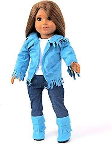 18 Inch Doll Clothes - Teal 4 Piece Western Outfit- American Girl *DOLL IS NOT INCLUDED*