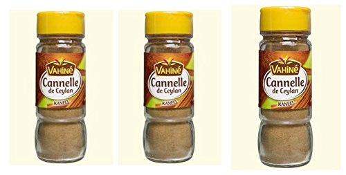 Vahiné - Vanille & Arômes - Cannelle de Ceylan en poudre - lot de 3