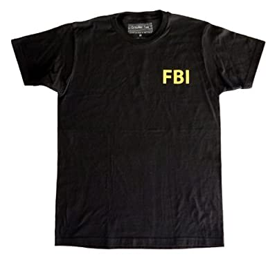 Qraphic Tee Men's FBI T-Shirt