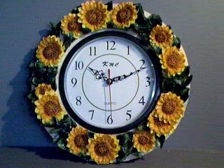 SUNFLOWER -Surrounded Wall Clock Sunflowers *BRAND NEW*