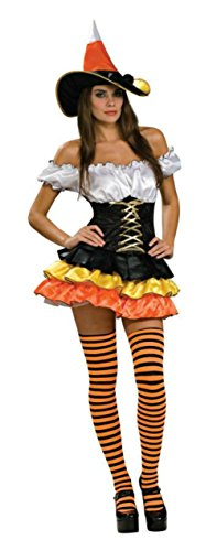 Rubies Womens Sexy Candy Corn Cutie Theme Party Fancy Halloween Costume