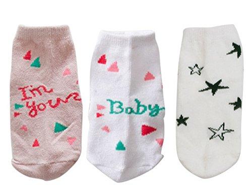 3-Paires-de-Chaussettes-Enfants-Bb-Unisexe-en-Coton-Mignons-Couleurs-Disponibles