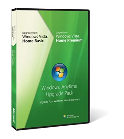 Microsoft Windows Vista Anytime Upgrade Pack [Home Basic to Home Premium] [OLD VERSION]