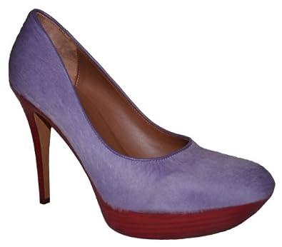 Donald J Pliner Xenia Women's Lavendar Haircalf Platform Heel Pump Shoe 8.5 US
