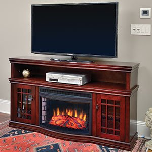 Muskoka Dwyer Electric Fireplace Entertainment Center in Cherry - MTVSC2513SCH