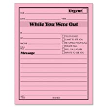Tops Important Message One-Sided Note Pads, 4.25 x 5.5 Inches, 50 Sheets per Pad-12 Pads per Pack (3002-P)