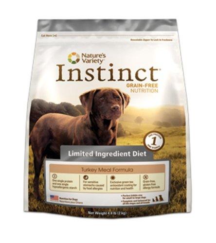 Instinct Grain-Free Turkey Meal Formula Limited Ingredient Diet Dry Dog Food by Nature's Variety, 4.4-Pound Bag