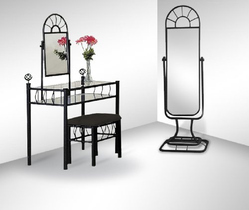 Black Metal Sunburst Bedroom Vanity Floor Mirror Setgirls vanity with mirror  Black Metal Sunburst Bedroom Vanity  . White Metal Vanity Set. Home Design Ideas