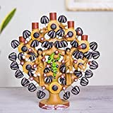 Ceramic tree of life sculpture, 'Adam and Eve' - Mexican Folk Art Hand Crafted Religious Ceramic Scu