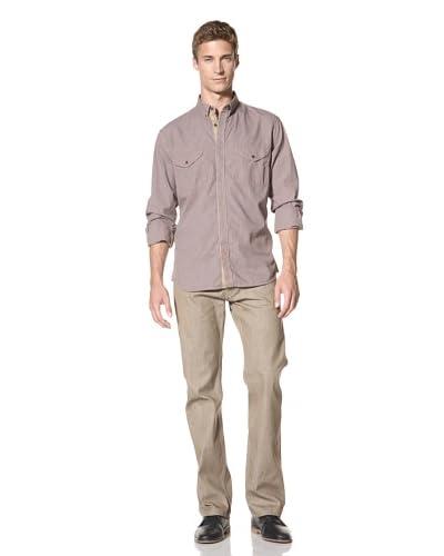 French Connection Men's Backcut Indigo Long Sleeve Shirt