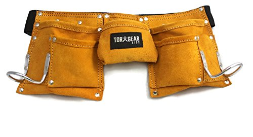 Child's Leather Tool Belt - Real Working Tool Belt! For Costume Or Work! (Black And Decker Kids Tool Belt compare prices)