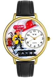 Firefighter Watch in Gold (Unisex) - Black Padded Wristband