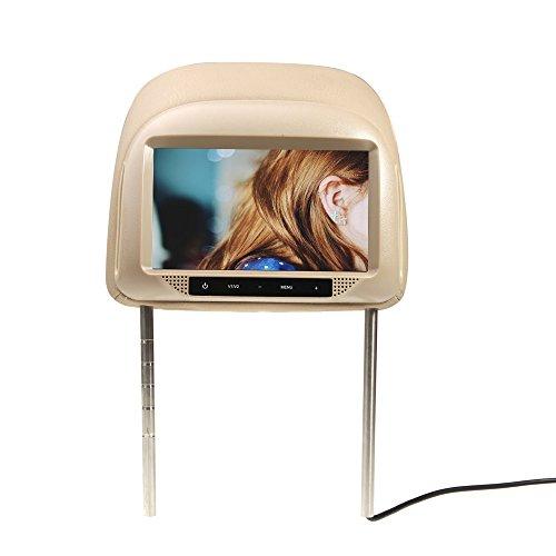 "Docooler® 2Pcs 7"" Hd Tft Lcd 800*480 Car Pillow Automobile Headrest Universal Monitor Built-In Screen"