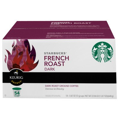Starbucks K-Cup Coffee  French Roast  54 Pack