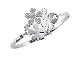 XC38 - 70139421300063 - Bracelet Jonc Femme - Fantaisie - Acier inoxydable - 6.3 cm